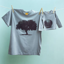 Apple Tree and Apple t shirt set for dad & child.