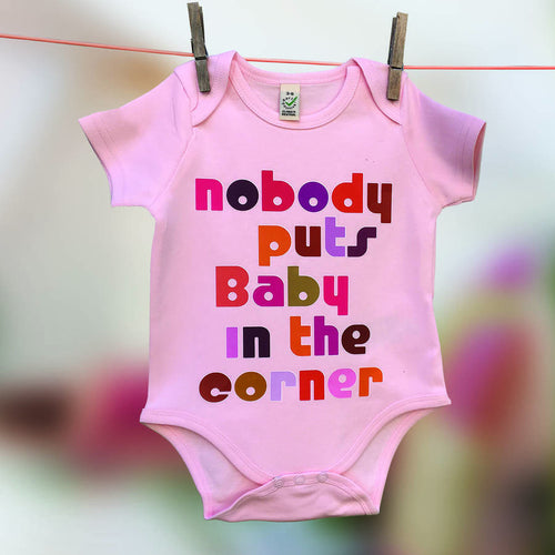 Nobody Puts Baby in the Corner Film Buff babygrow