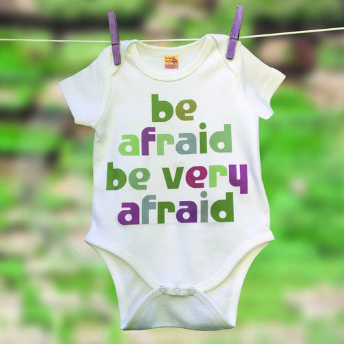 Movie Quote babygrow for film buffs - Be Afraid