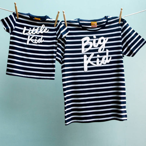Big Kid / Little Kid matching t shirts for dad and child