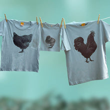 Family Cockerel, Hen and Chick t shirt set