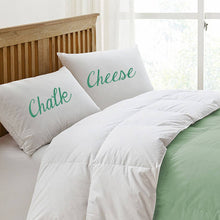 Funny pillowcase gift set 'Chalk and Cheese'