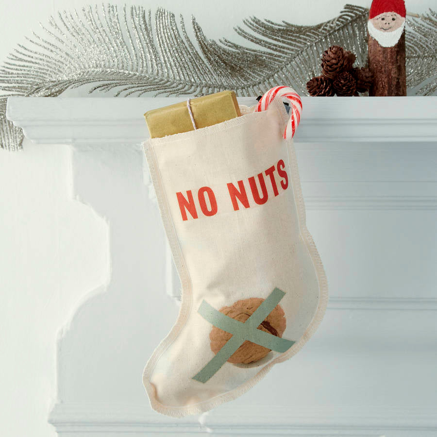 No Nuts Christmas stocking