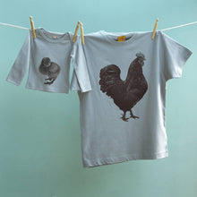 Cockerel & Chick matching t shirt twinset for dad and baby / child