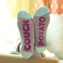 Couch Potato message 'Feet Up' socks