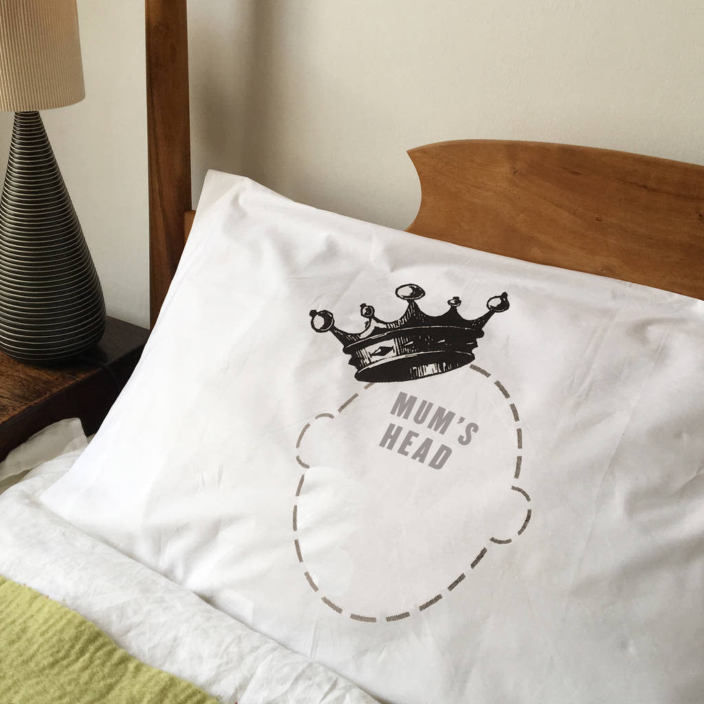 Funny printed Crown Headcase luxury pillowcase
