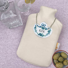 Gin decanter label hot water bottles