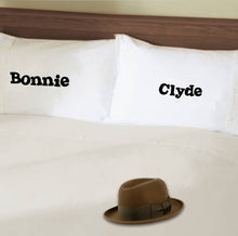 Funny bespoke celebrity couple pillowcase sets