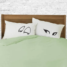 Flirting pillowcase set for couples