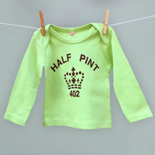 Matching Pint & Half Pint tops for families in mint green and brown