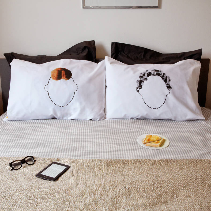 Funny Head Case Pillowcases Gift Set for couples