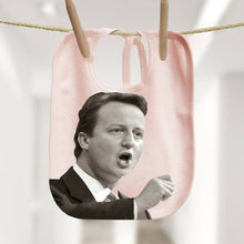 David Cameron political baby bib