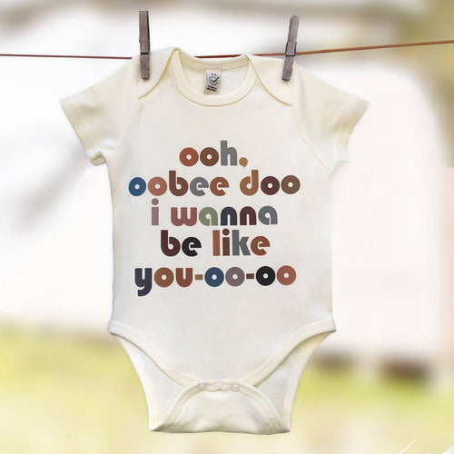 'Obee Doo'  Jungle Book film quote  babygrow
