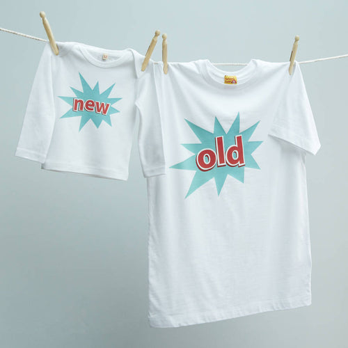 Matching T Shirt Set For New Dad and Baby Old / New.