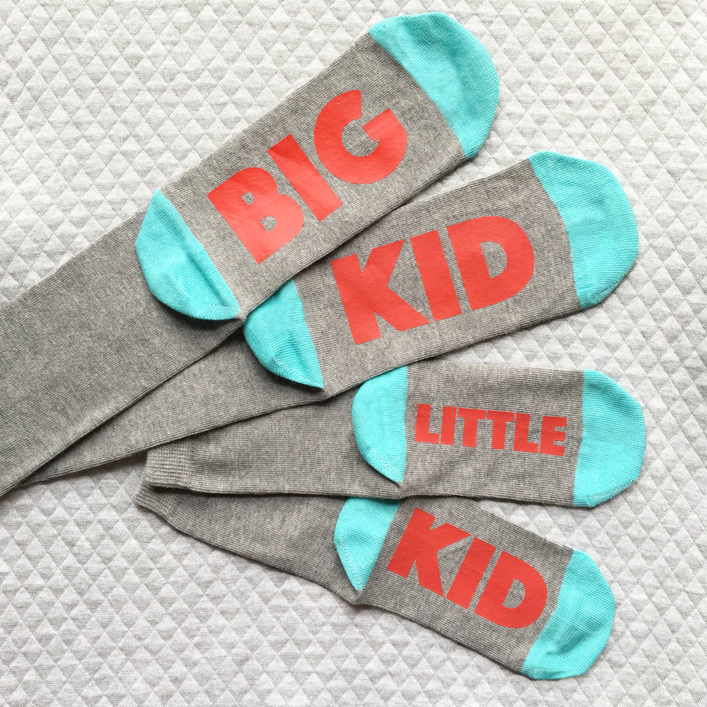 Big Kid / Little Kid matching socks for parents and children