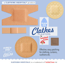 Plaster Patches- iron on fabric plasters to mend clothing
