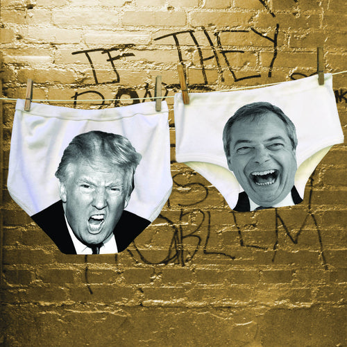 Trump and Farage Power Pants for ambitious couples