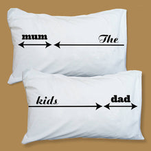 Parents and Child Kid-Hogger personalised pillowcase set