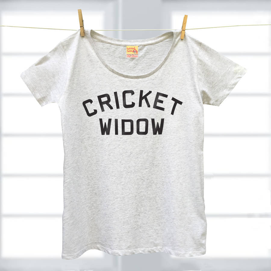 Cricket Widow ladies organic t shirt