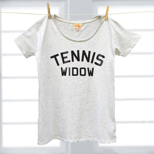 Tennis Widow ladies organic cotton t shirt