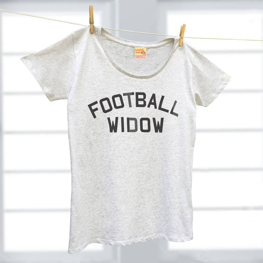 Football Widow organic cotton ladies t shirt