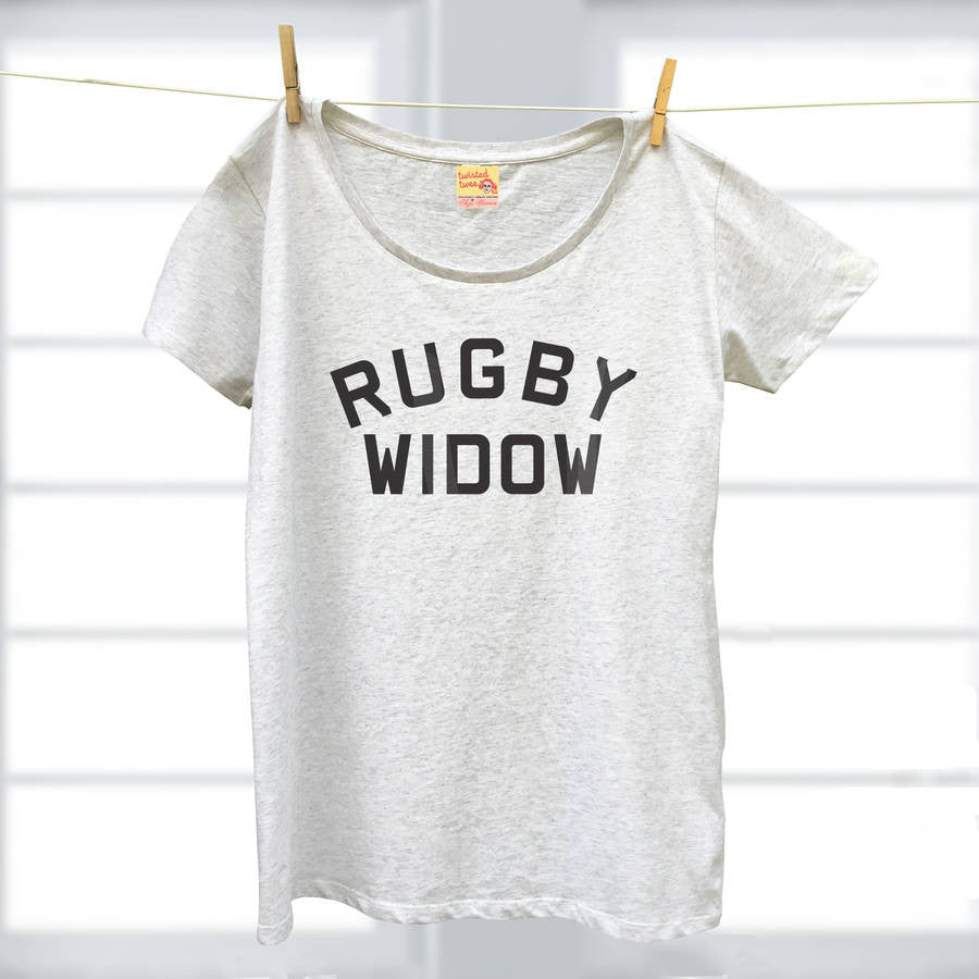 Rugby Widow ladies organic t shirt for sports fans