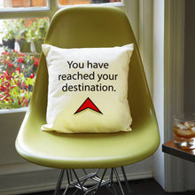 'Destination' geo-location cushion