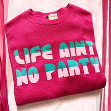 Bespoke 'Life Ain't No Party' woolly jumper