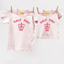 Pink organic Half Pint t shirt for child and baby