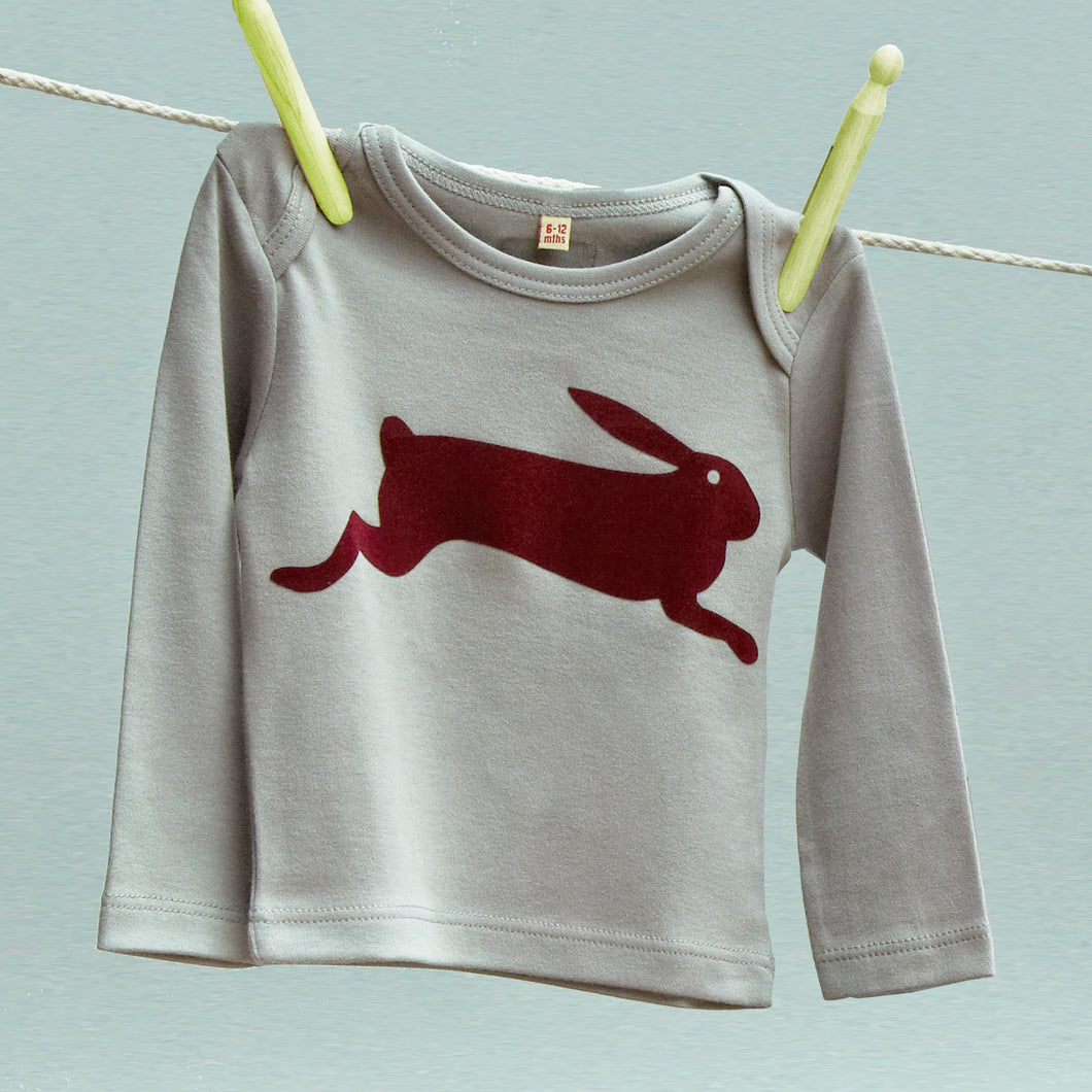 Hare child's organic t shirt