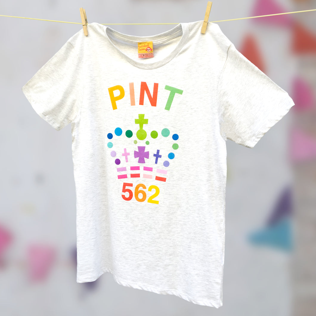 Single rainbow Pint organic cotton t shirt