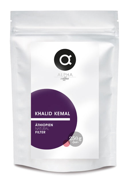 ALPHA coffee - KHALID KEMAL - ÄTHIOPIEN - FILTER - NATURAL -250 GRAMM