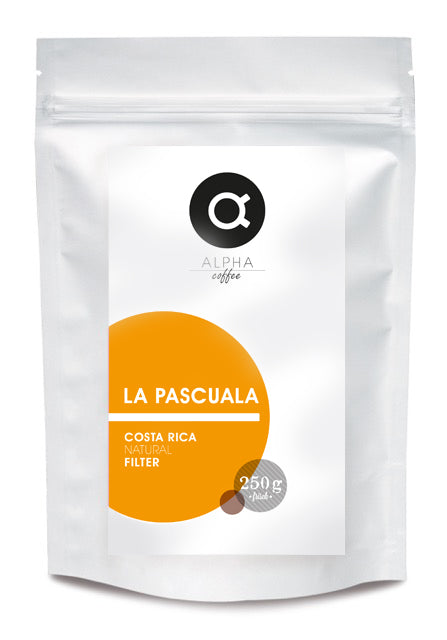 ALPHA coffee - LA PASCUALA - COSTA RICA - FILTER - NATURAL - 250 GRAMM