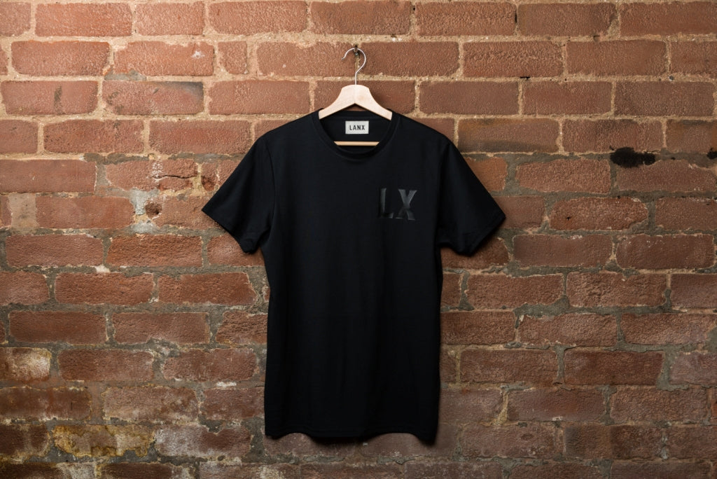 THORNBER LX T-SHIRT // BLACK-T-Shirt | LANX Proper Men's Shoes