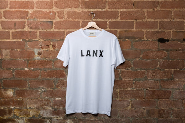 HOLMES LANX T-SHIRT // WHITE-T-Shirt | LANX Proper Men's Shoes