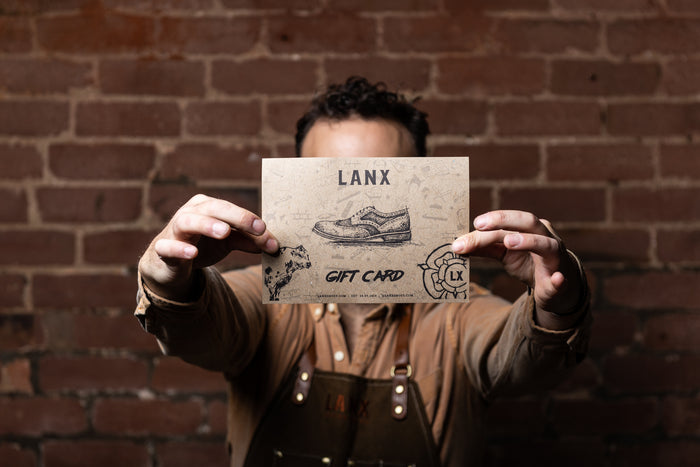 LANX GIFT CARD (PRINTED & POSTED)-Gift Card | LANX Proper Men's Shoes