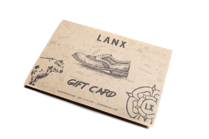 E-GIFT CARD (EMAILED)-Gift Card | LANX Proper Men's Shoes