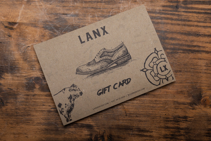 LANX GIFT CARD (PRINTED & POSTED)-Socks | LANX Proper Men's Shoes