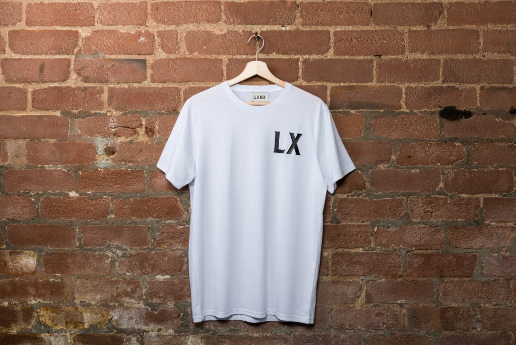 SLINGER LX T-SHIRT // WHITE-T-Shirt | LANX Proper Men's Shoes