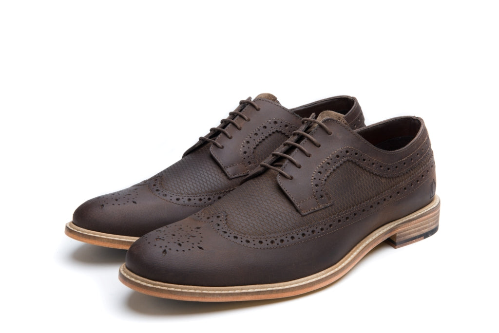 CATHCART // DISTRESSED BROWN-MEN'S SHOE | LANX Proper Men's Shoes