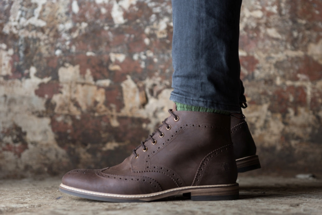 PARK // DISTRESSED BROWN-MEN'S SHOE | LANX Proper Men's Shoes