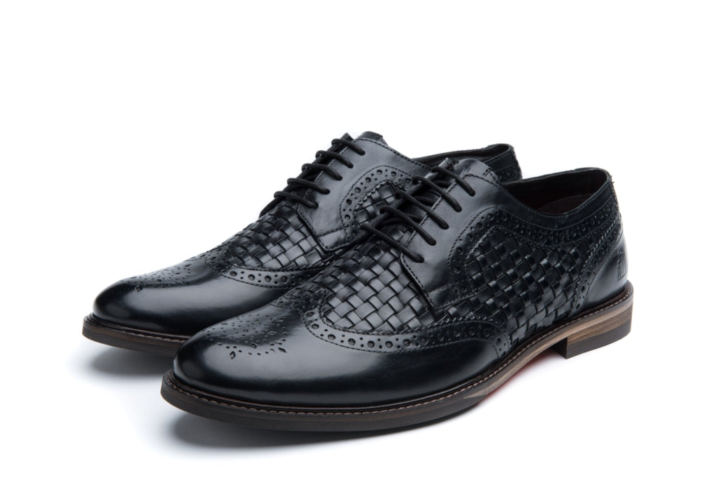 BLUNDELL // BLACK (MEN'S)-MEN'S SHOE | LANX Proper Men's Shoes
