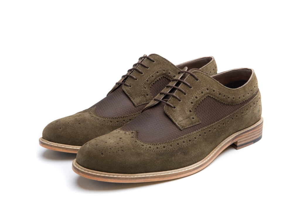 CATHCART // KHAKI & BROWN (MEN'S)-MEN'S SHOE | LANX Proper Men's Shoes