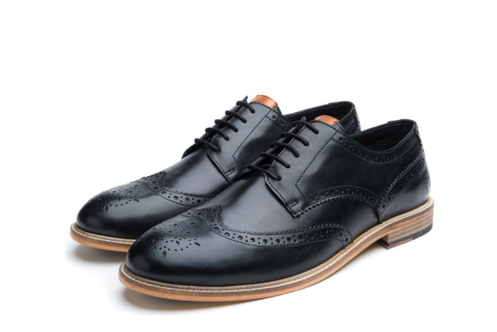 FEW // BLACK-MEN'S SHOE | LANX Proper Men's Shoes