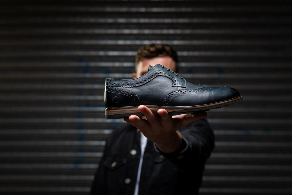 HOPKINS // NAVY-MEN'S SHOE | LANX Proper Men's Shoes