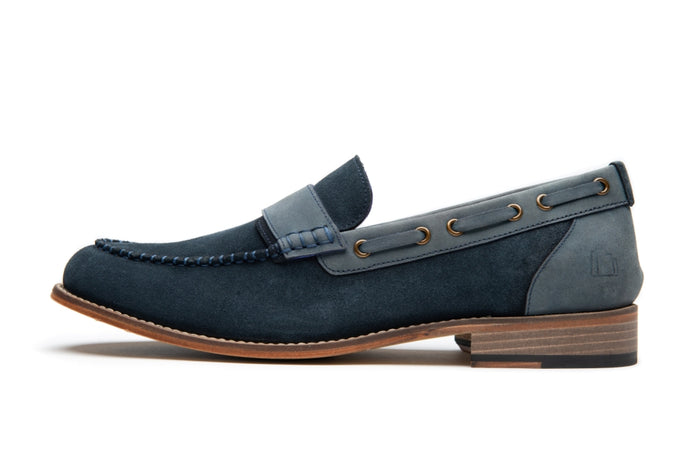 CUDDY // NAVY (MEN'S)-MEN'S SHOE | LANX Proper Men's Shoes