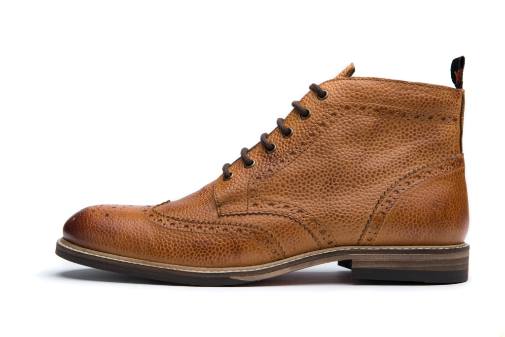 PARK // PEBBLED TAN-MEN'S SHOE | LANX Proper Men's Shoes