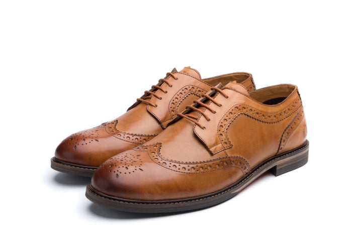 HOPKINS // TAN-MEN'S SHOE | LANX Proper Men's Shoes