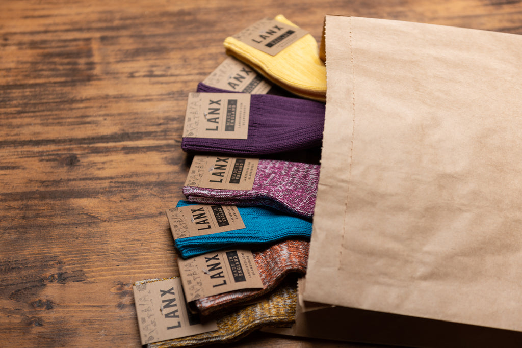 GOLD & BROWN FLECK (UK 7-11)-Socks | LANX Proper Men's Shoes