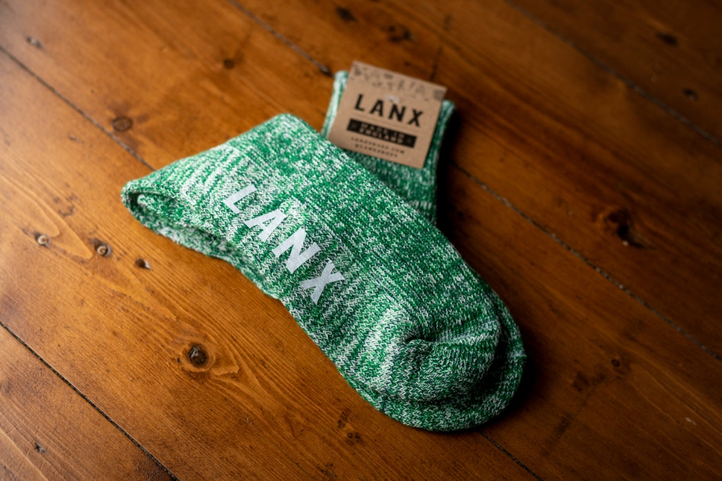 GREEN & BOTTLE FLECK-Socks | LANX Proper Men's Shoes